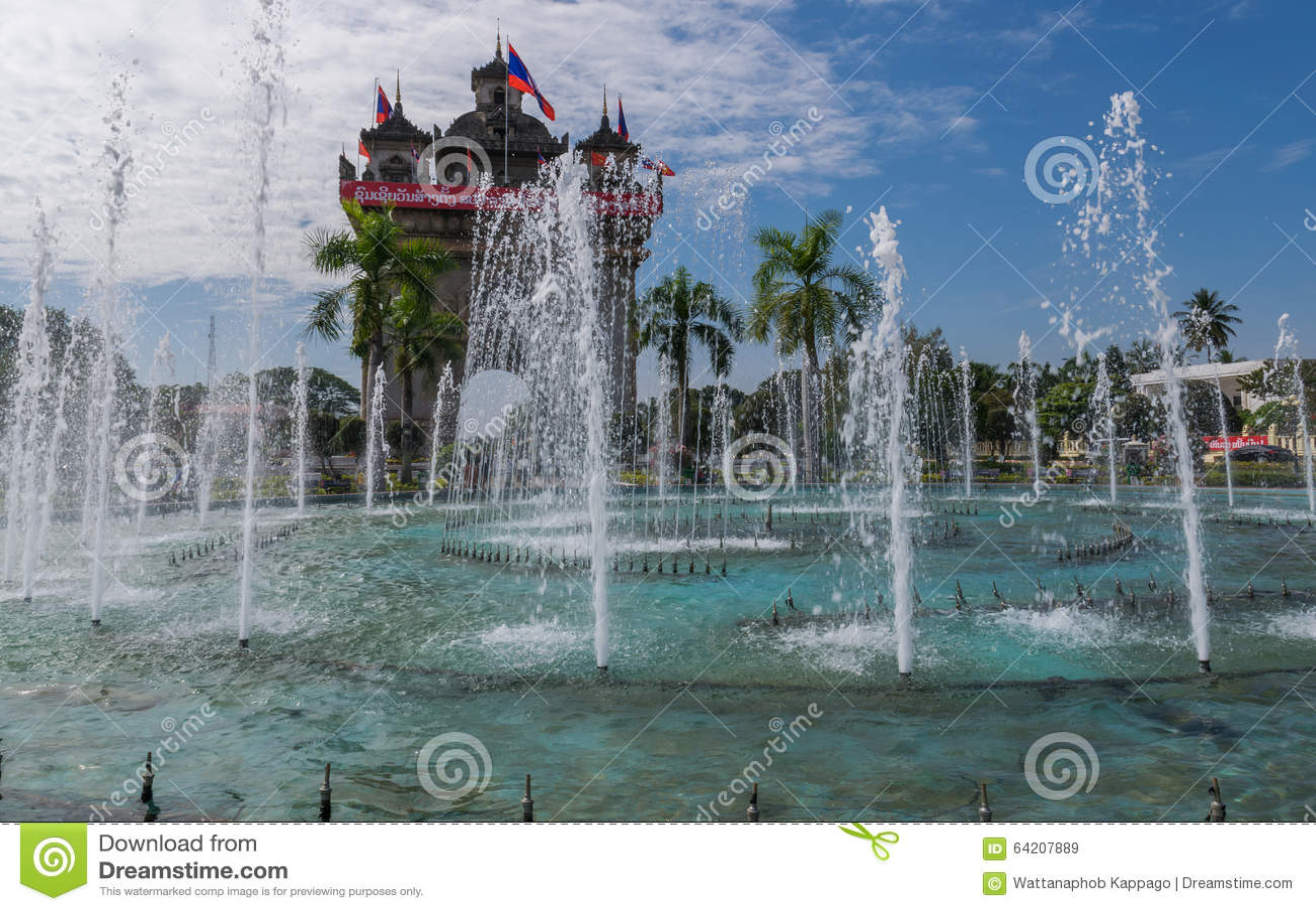 Monumento de la victoria de Patuxai en Vientian