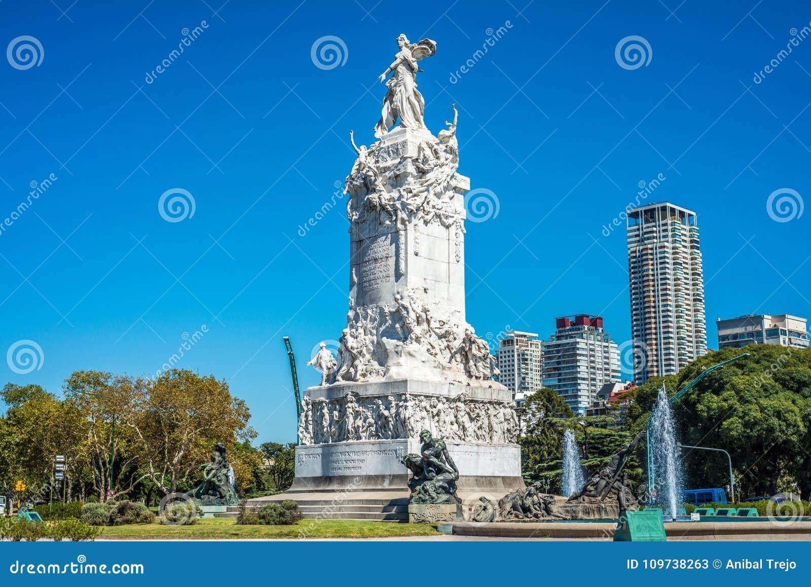 Monumento de quatro regiões em Buenos Aires, Argentina