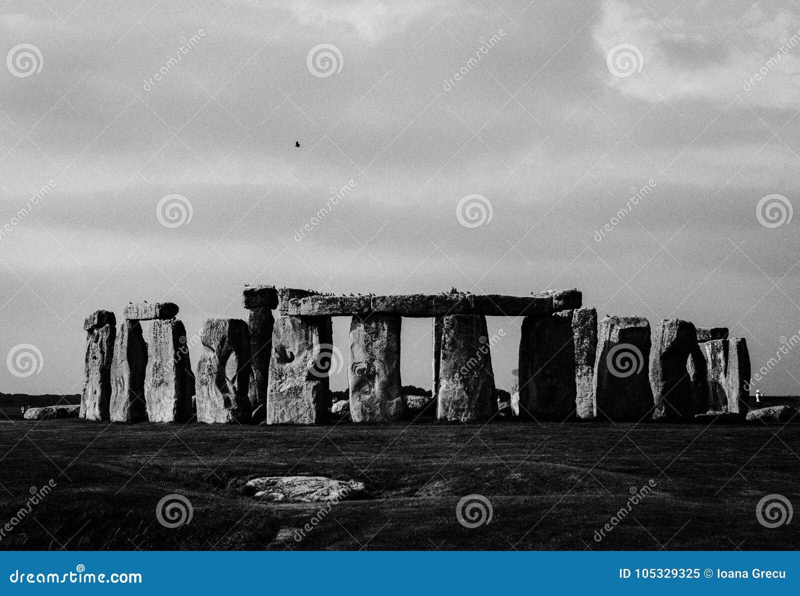 Monumento de Stonehenge em planos de Salisbúria