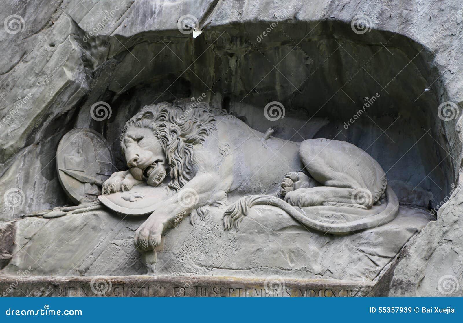 Monumento del leone in erba medica, Svizzera