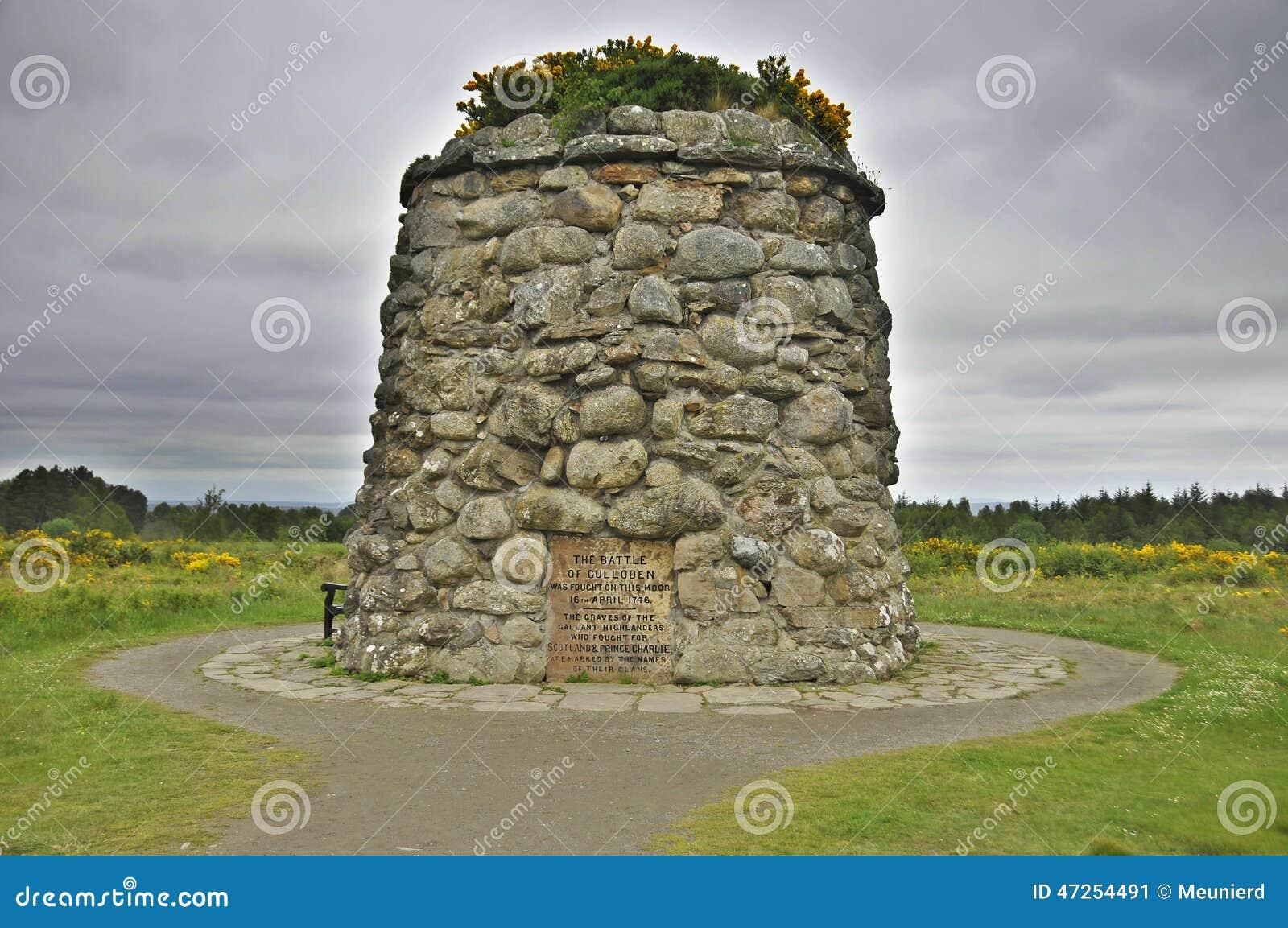 Monumento del monumento del campo de batalla de Culloden