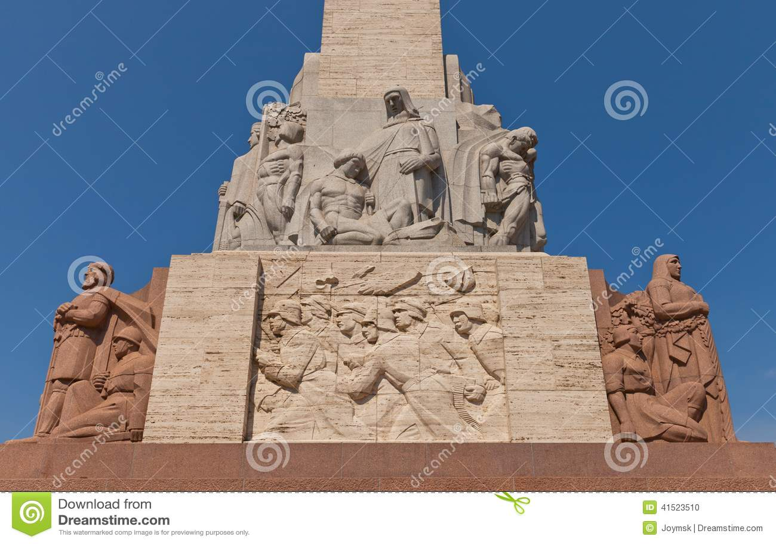 Monumento di libertà a Riga, Lettonia (frammento)