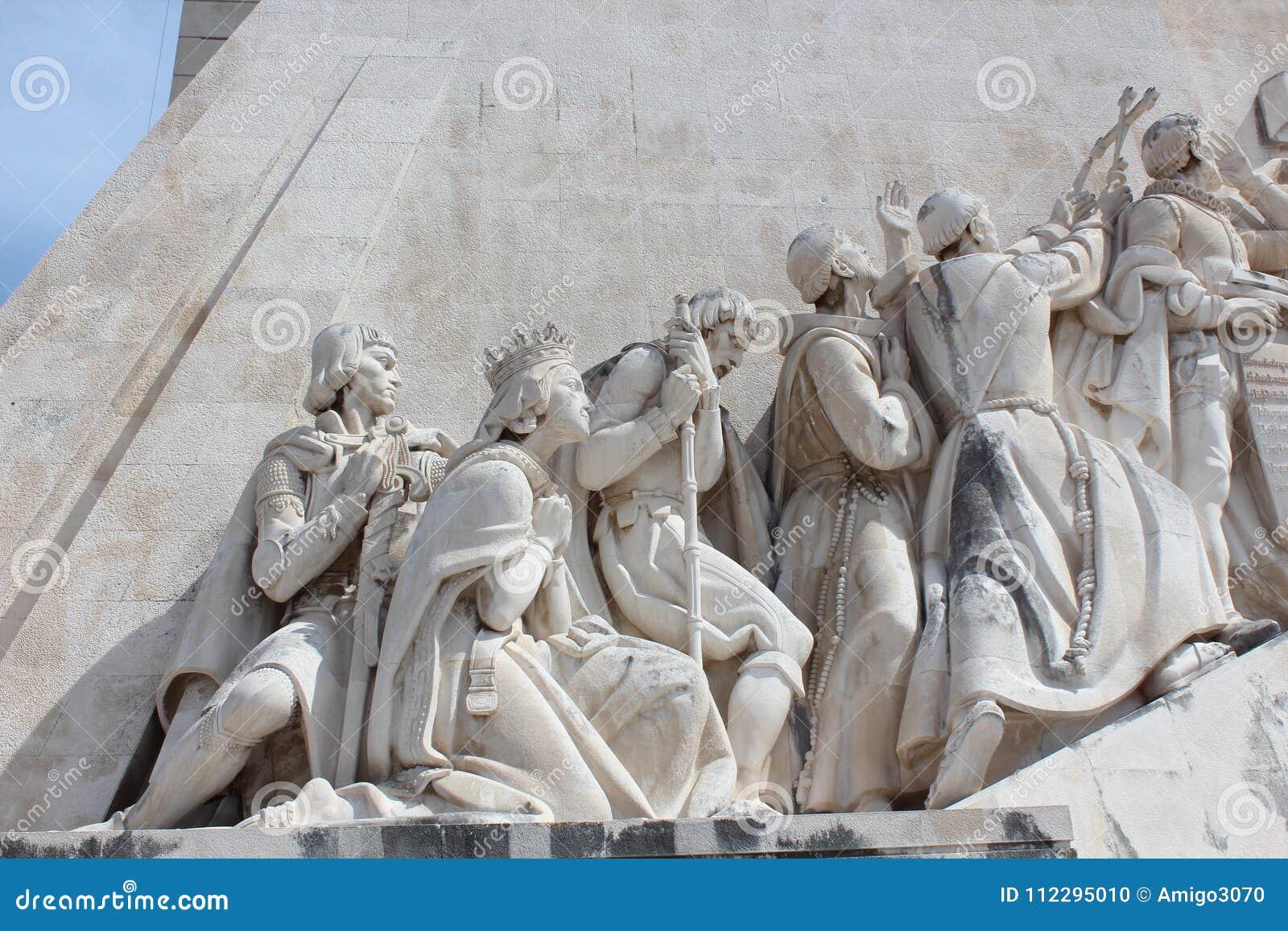Monumento di scoperta di Lisbona DOS Descobrimentos di Padrao