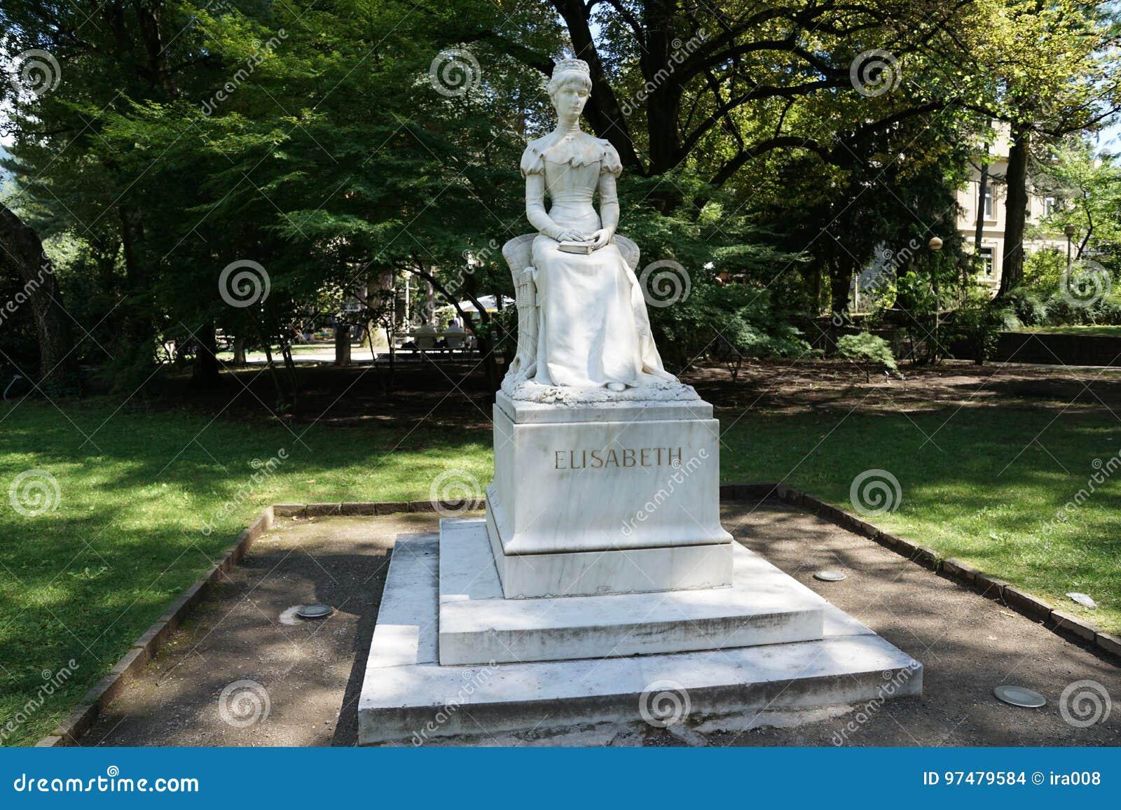 Monumento di Sissi in Meran in Italia