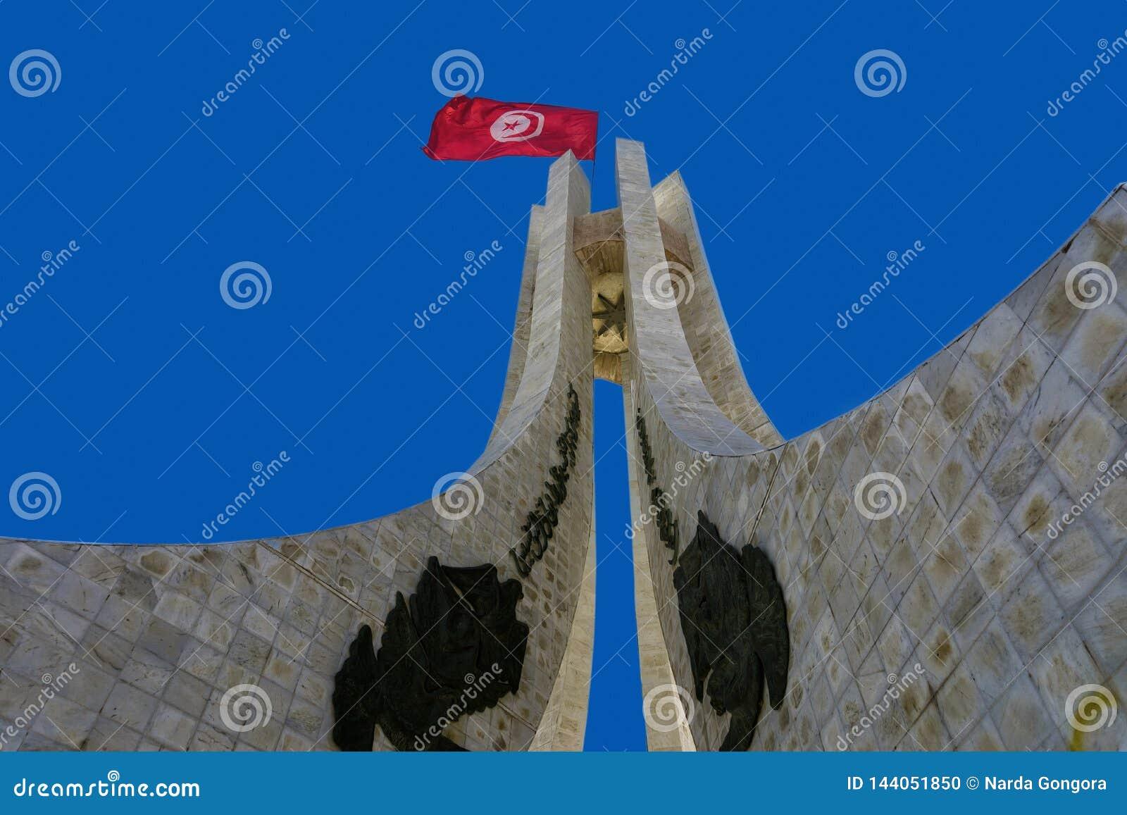 Monumento do quadrado de Kasbah em Tunes, Tunísia