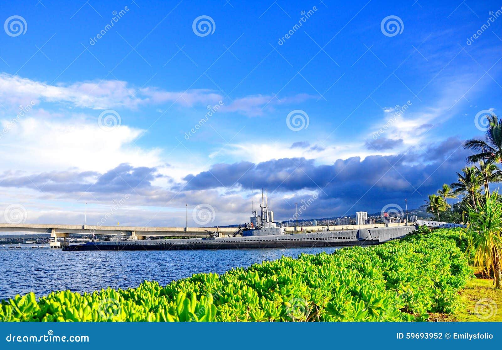 Monumento en el Pearl Harbor