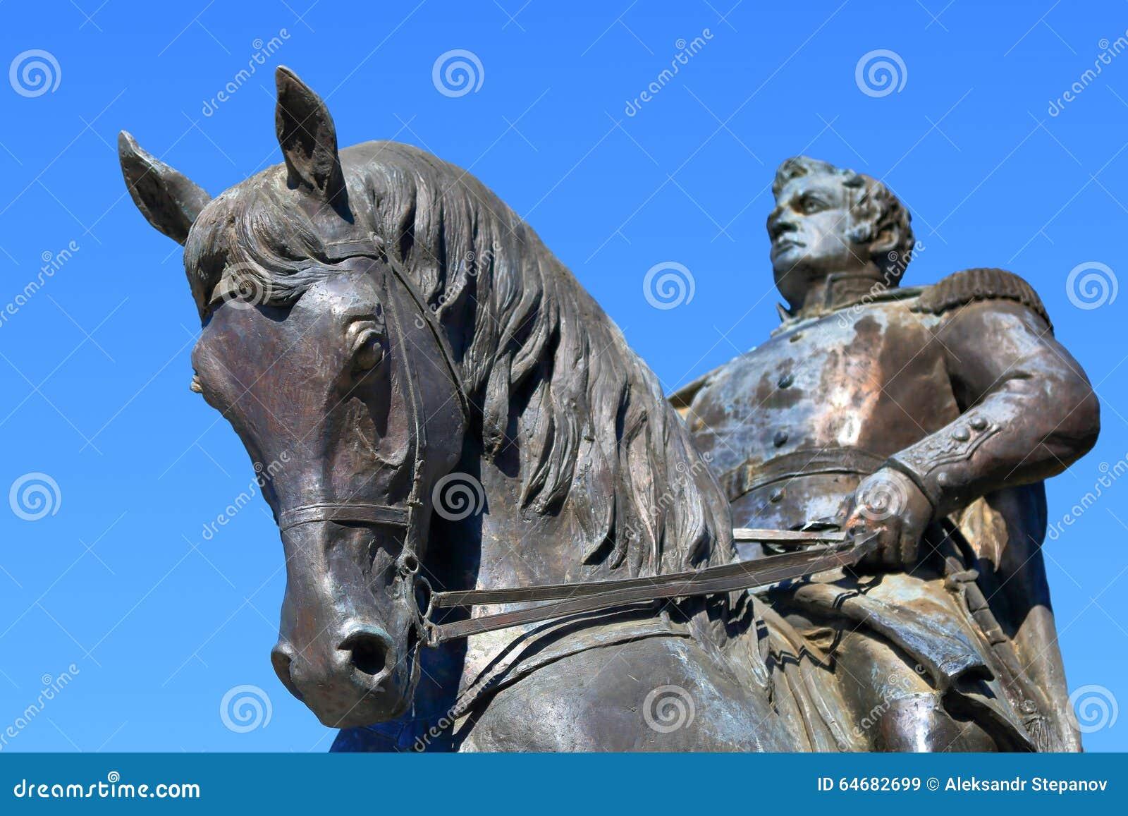 Monumento equestre a generale Yermolov in Pjatigorsk, Russia