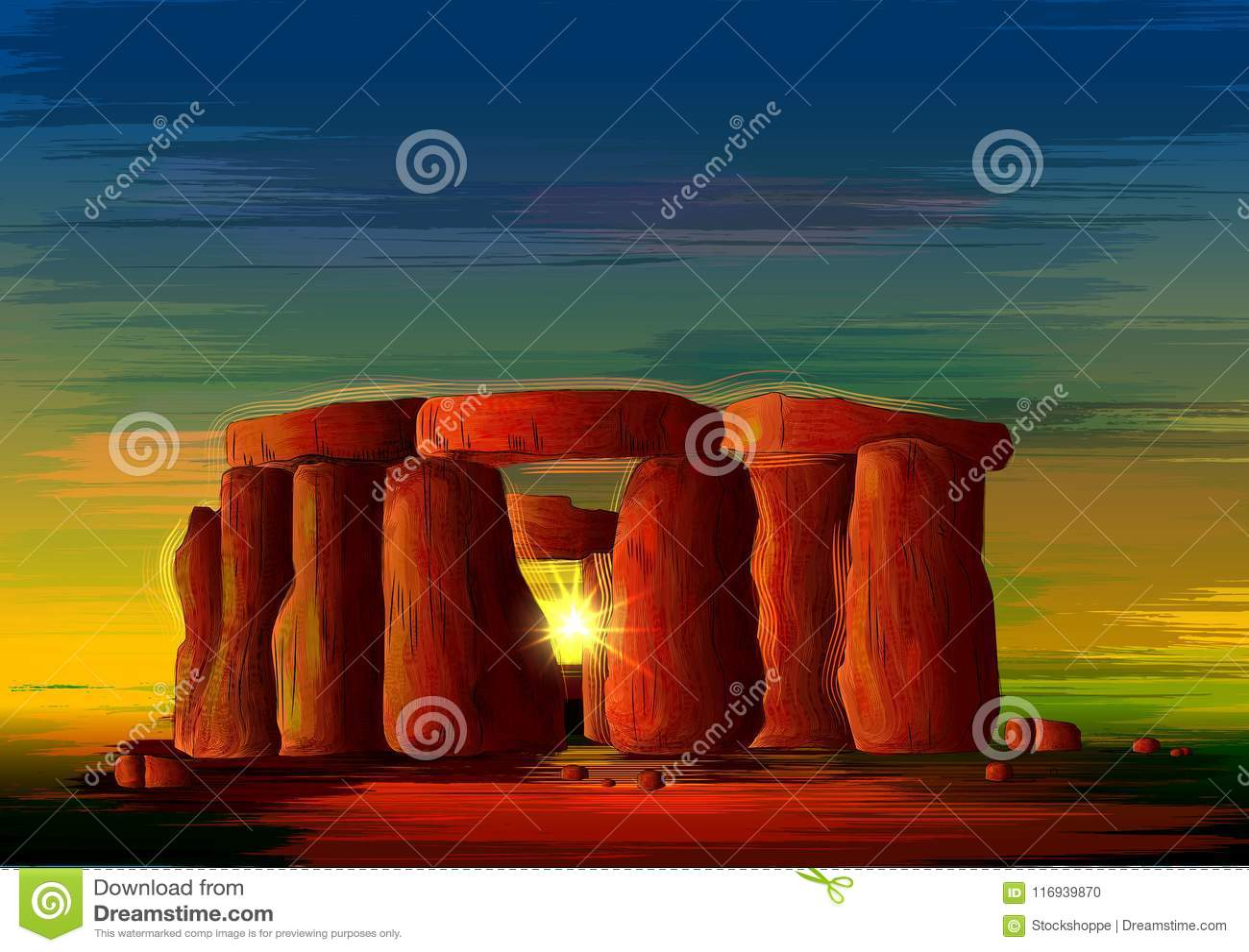 Monumento histórico famoso de Stonehenge de Wiltshire, Inglaterra