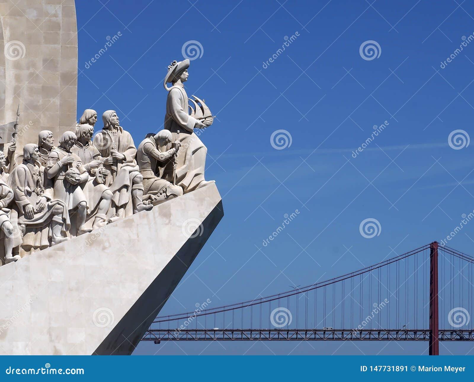 Monumento a los descubrimientos en Lisboa en Portugal