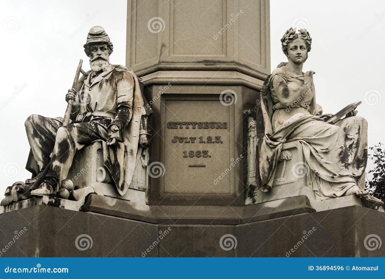 Download Monumento Nazionale Gettysburg Dei Soldati Fotografia Stock - Immagine di gettysburg, civile: 36894596