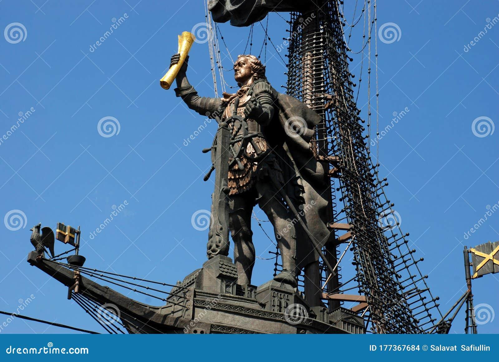 monumento a pedro el grande en moscu editorial stock image image of monumento moscumodernist 177367684