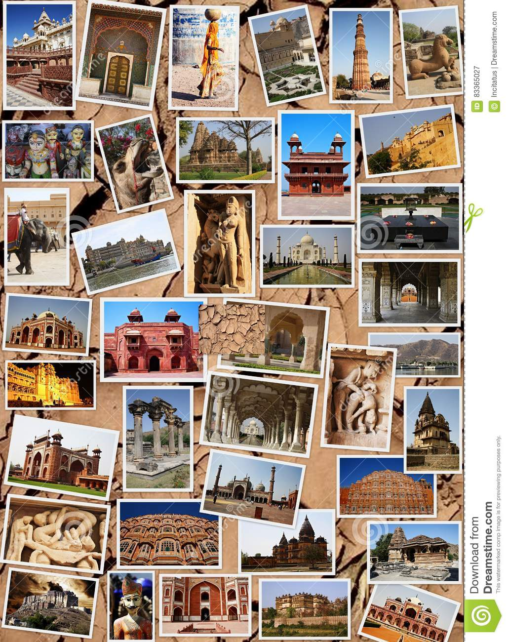 MONUMENTS COLLAGE IN INDIA