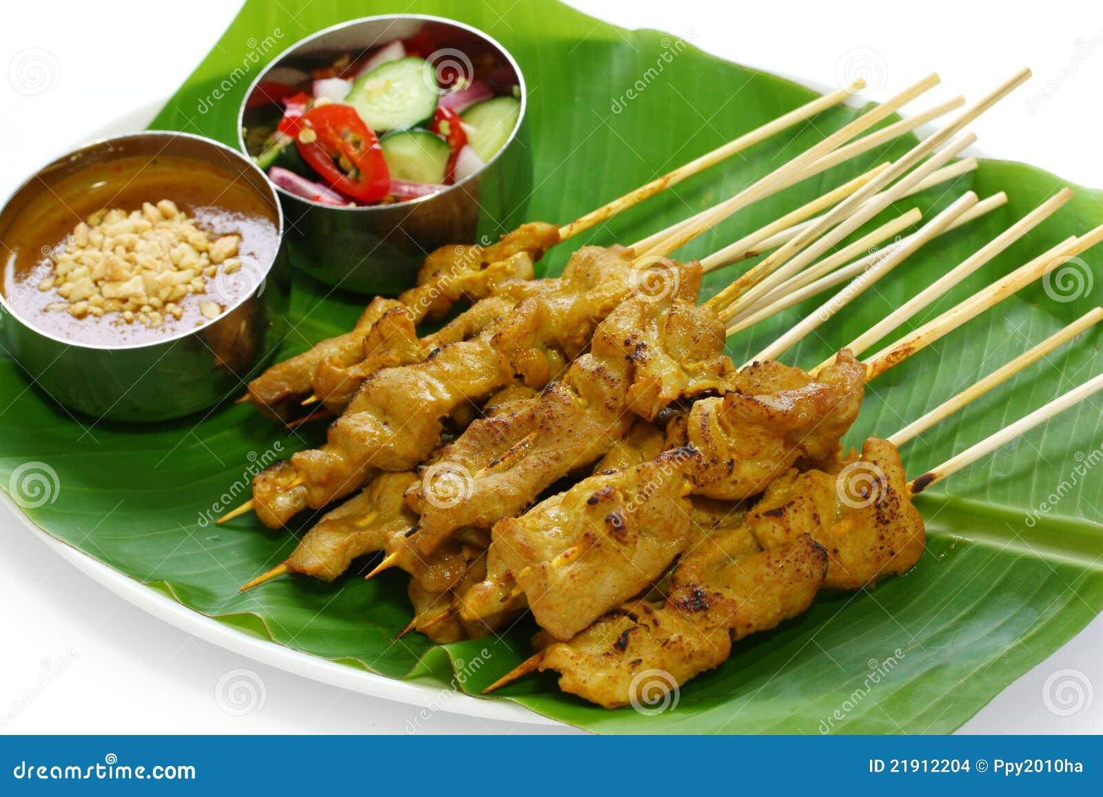 Thai Food Satay With Peanut Sauce