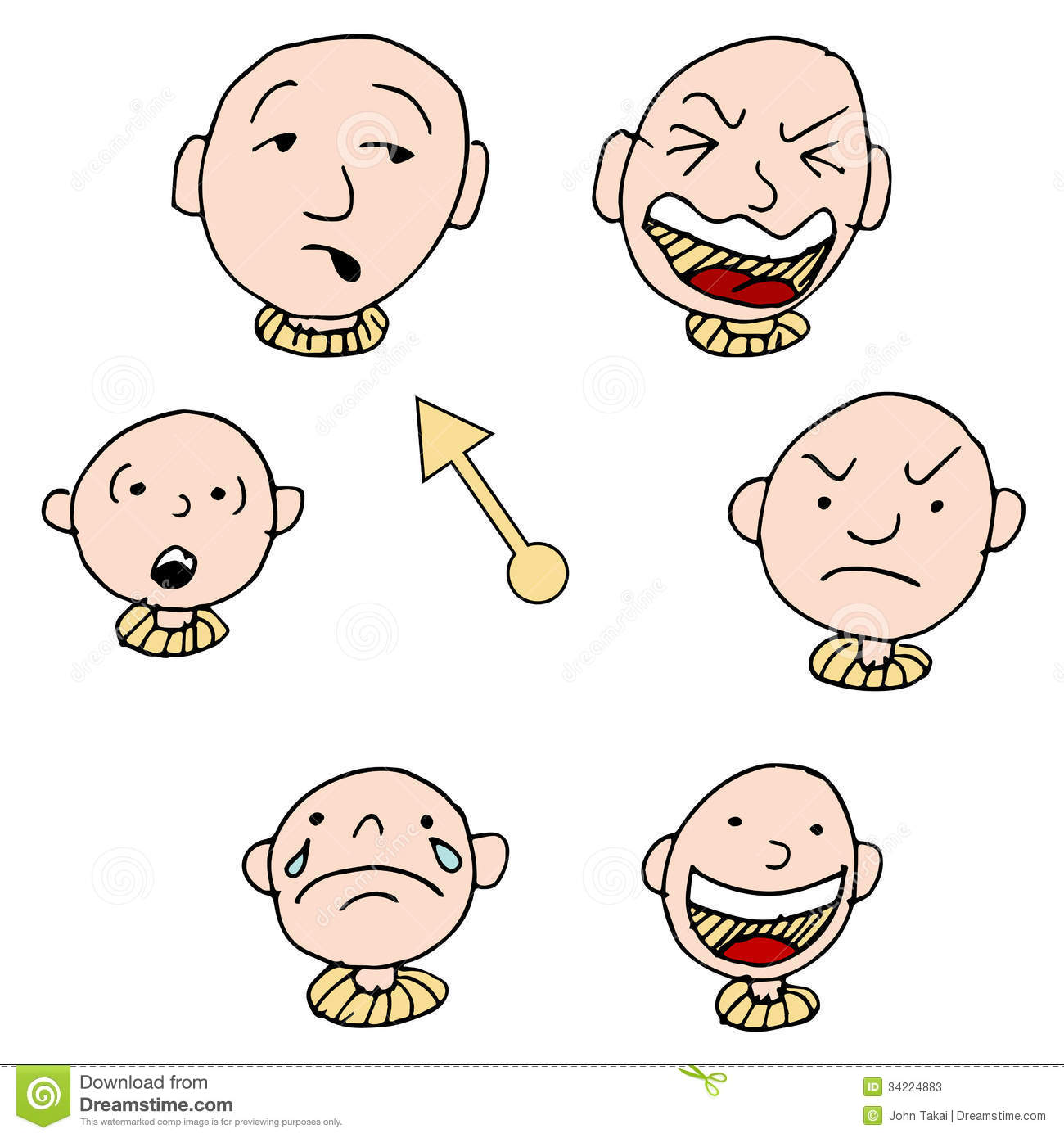 Mood Face Expression Icon Set Stock Vector - Illustration ...