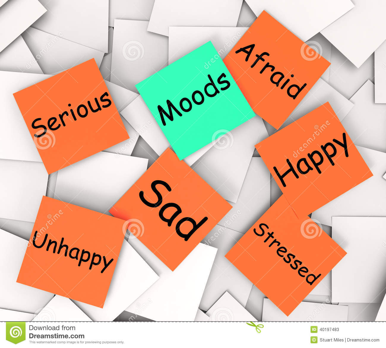 Moods Emotions Faces Many Variety Feelings Stock