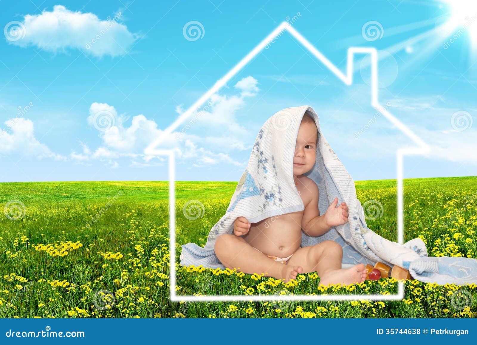 Mooi baby en huis