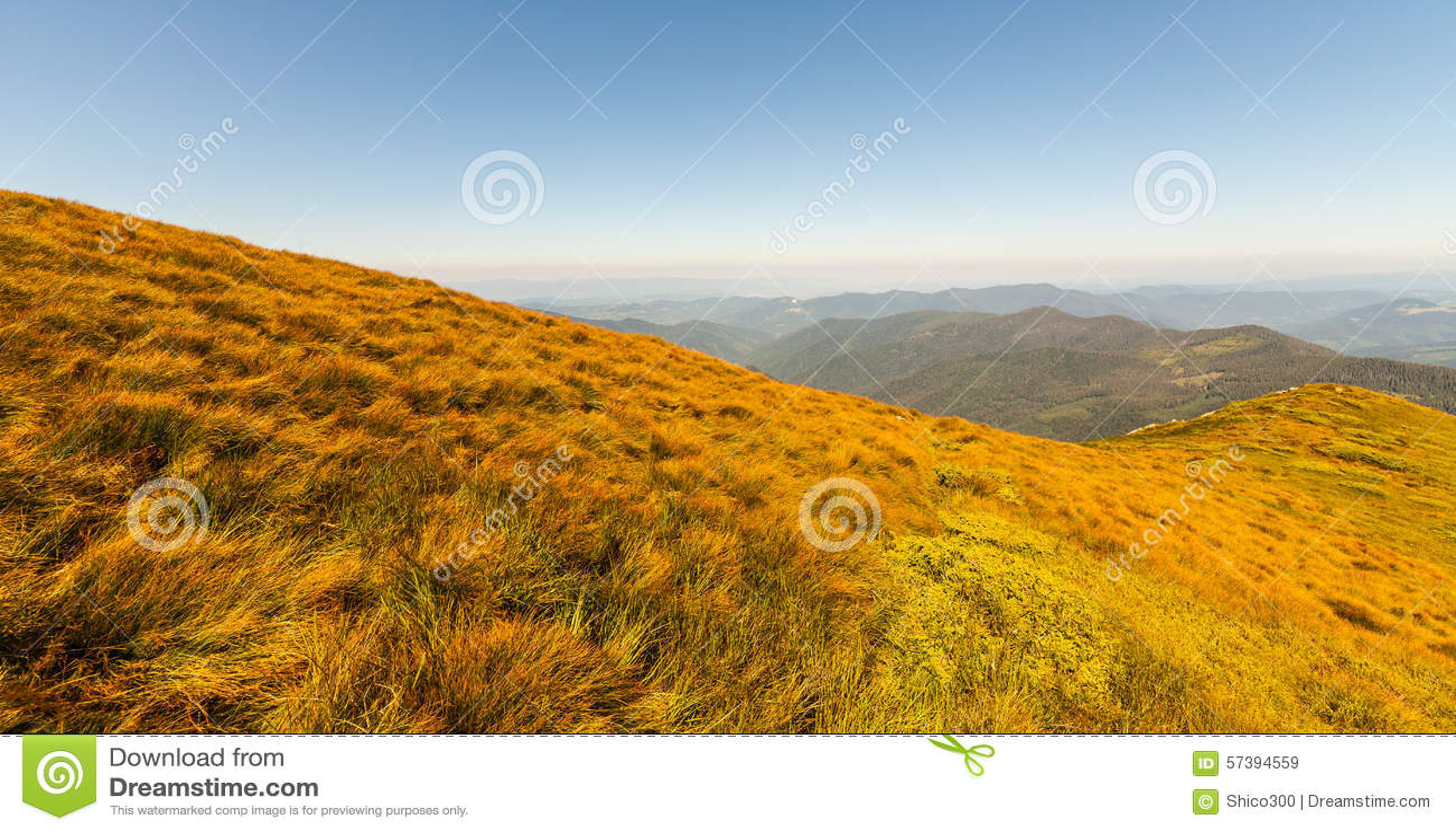 Mooi bergenlandschap in Karpatisch
