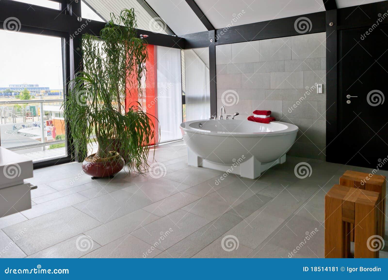 Mooie Moderne Badkamers : Mooi binnenland van een moderne badkamers stock afbeelding