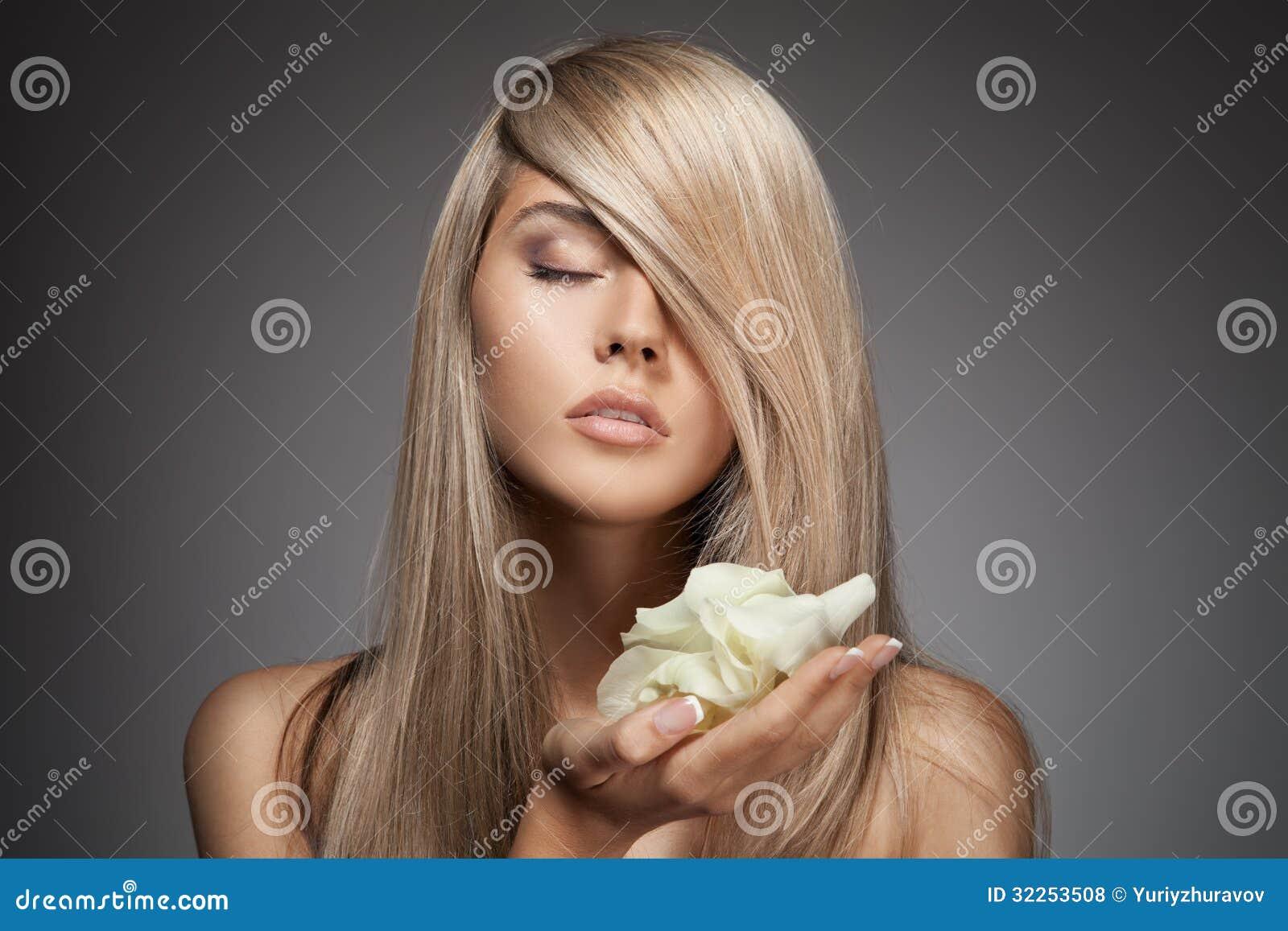 lang haar blond mooi