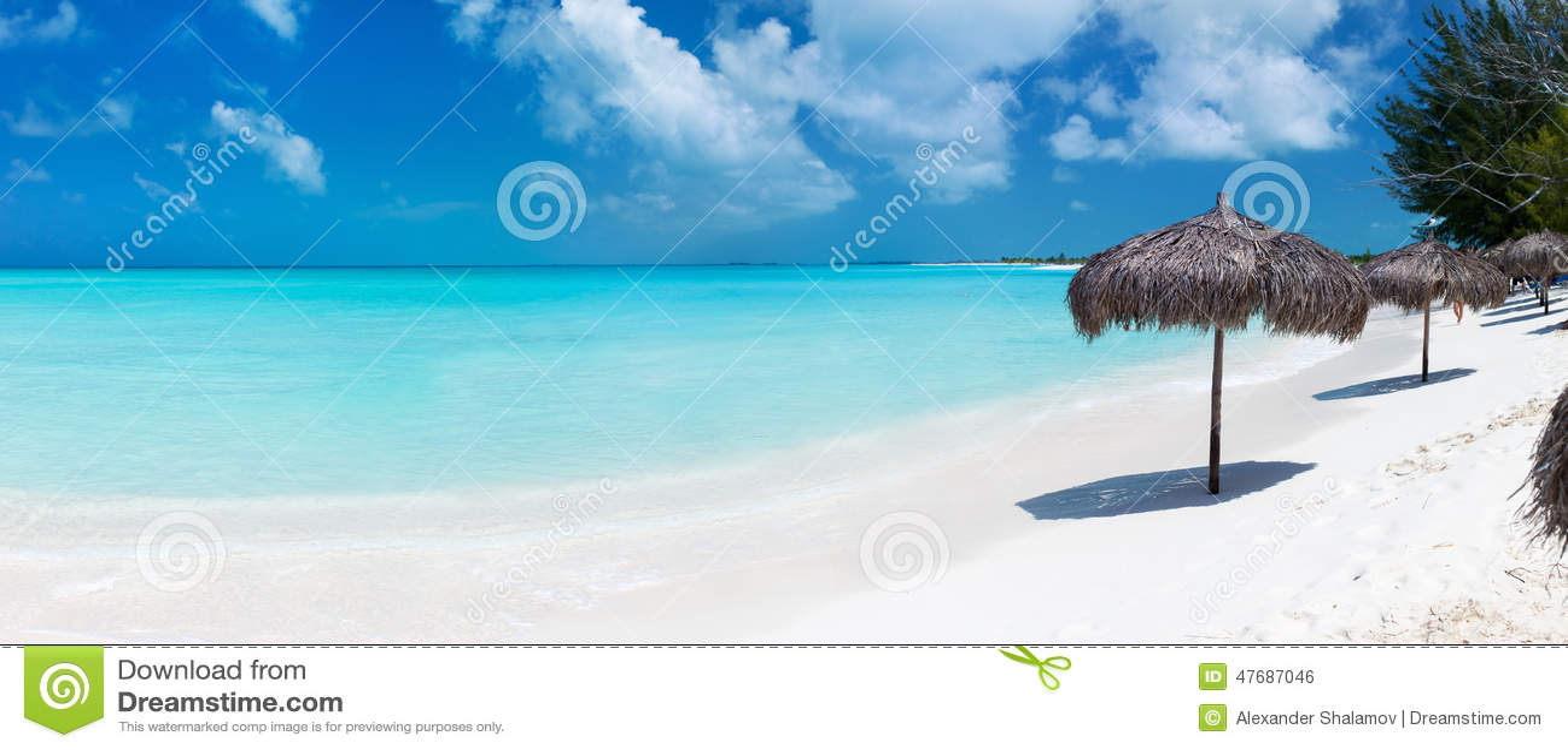 Mooi Caraïbisch strandpanorama