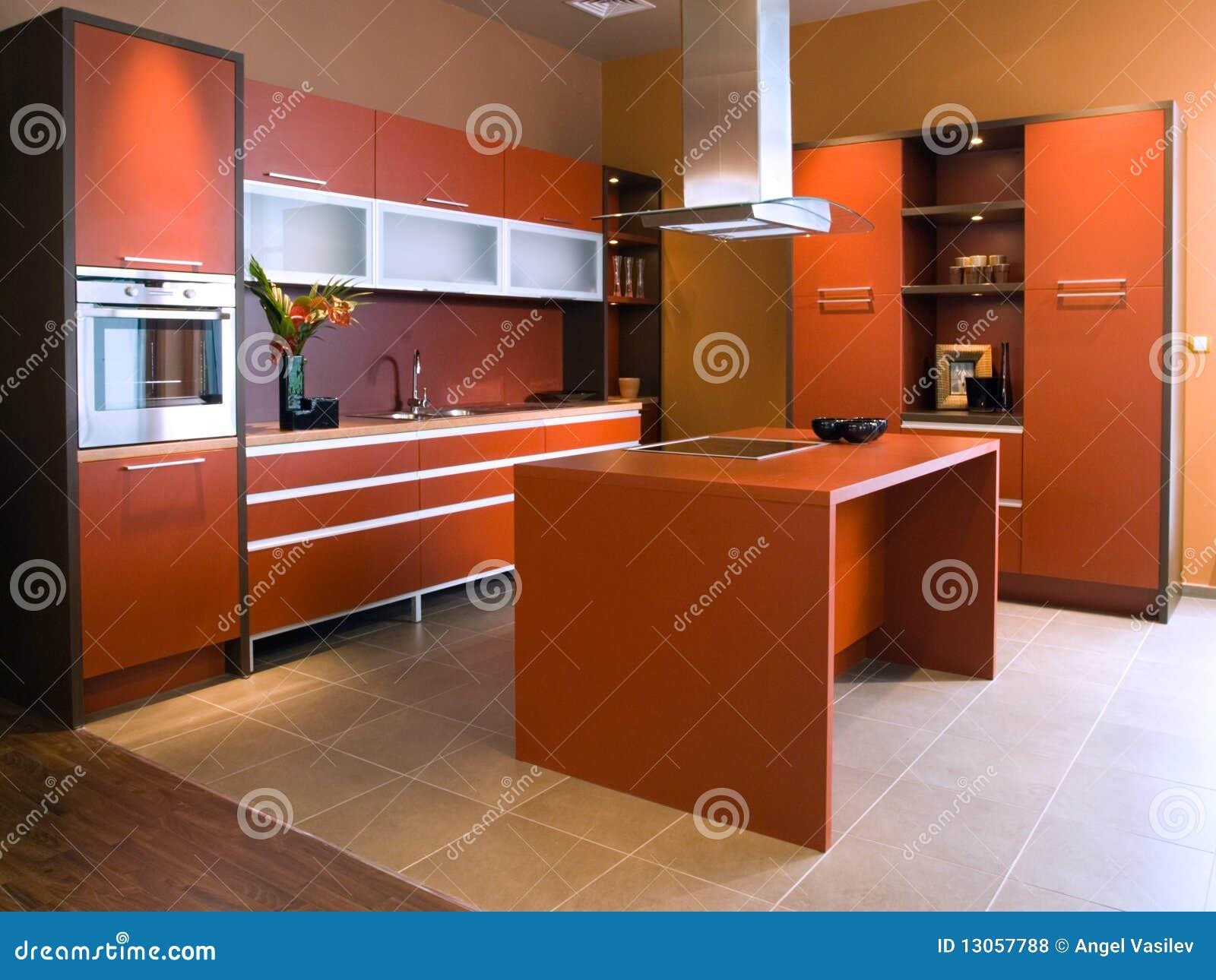 Mooi en modern keuken binnenlands ontwerp.