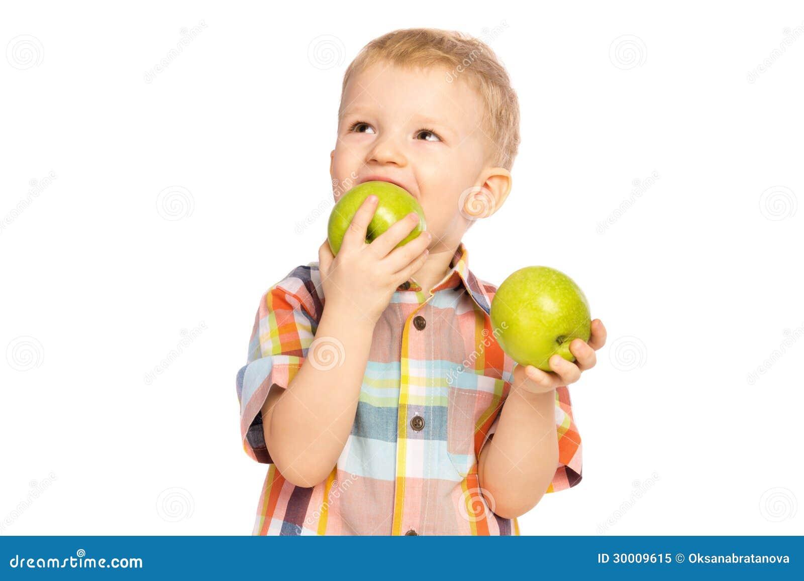 Kind die gezond voedsel eten royalty vrije stock foto afbeelding 30009615 - Snack eten ...