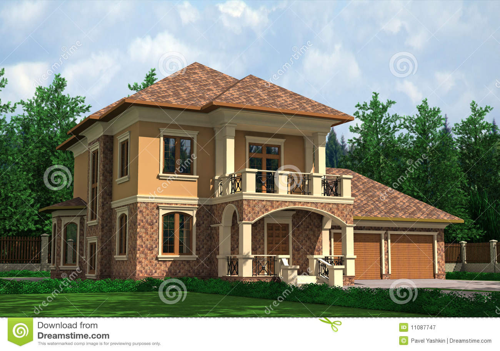 Mooi huis royalty vrije stock fotografie afbeelding 11087747 - Mooi huis ...