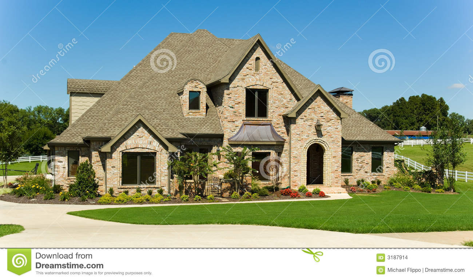 Mooi huis stock foto afbeelding bestaande uit hemel weduwen 3187914 - Mooi huis ...