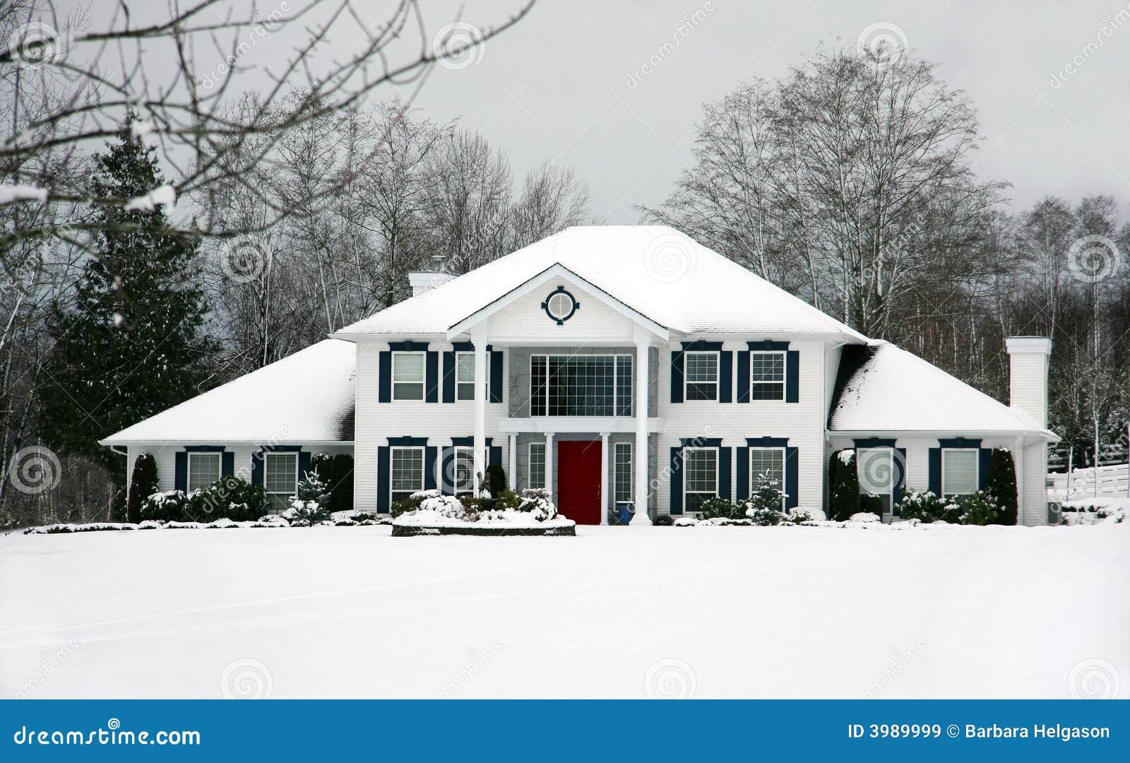 Mooi huis in de winter stock afbeelding afbeelding bestaande uit landelijk 3989999 - Mooi huis ...