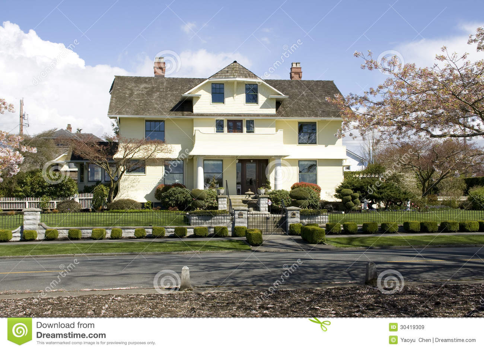 Mooi huis met traditinalontwerpen