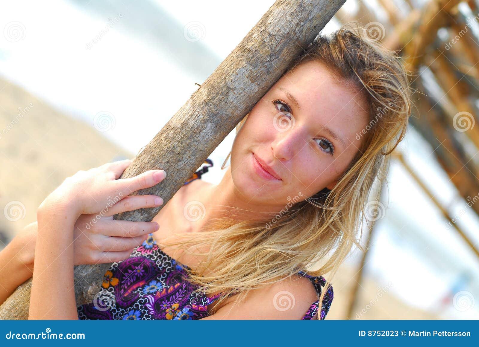 reizen blond mooi