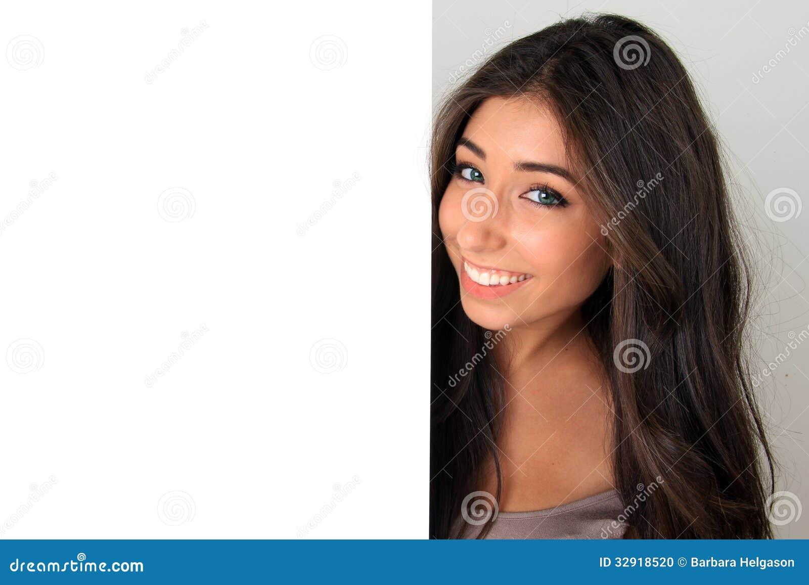 Mooi meisje en teken stock foto afbeelding 32918520 - Foto tiener ruimte meisje ...