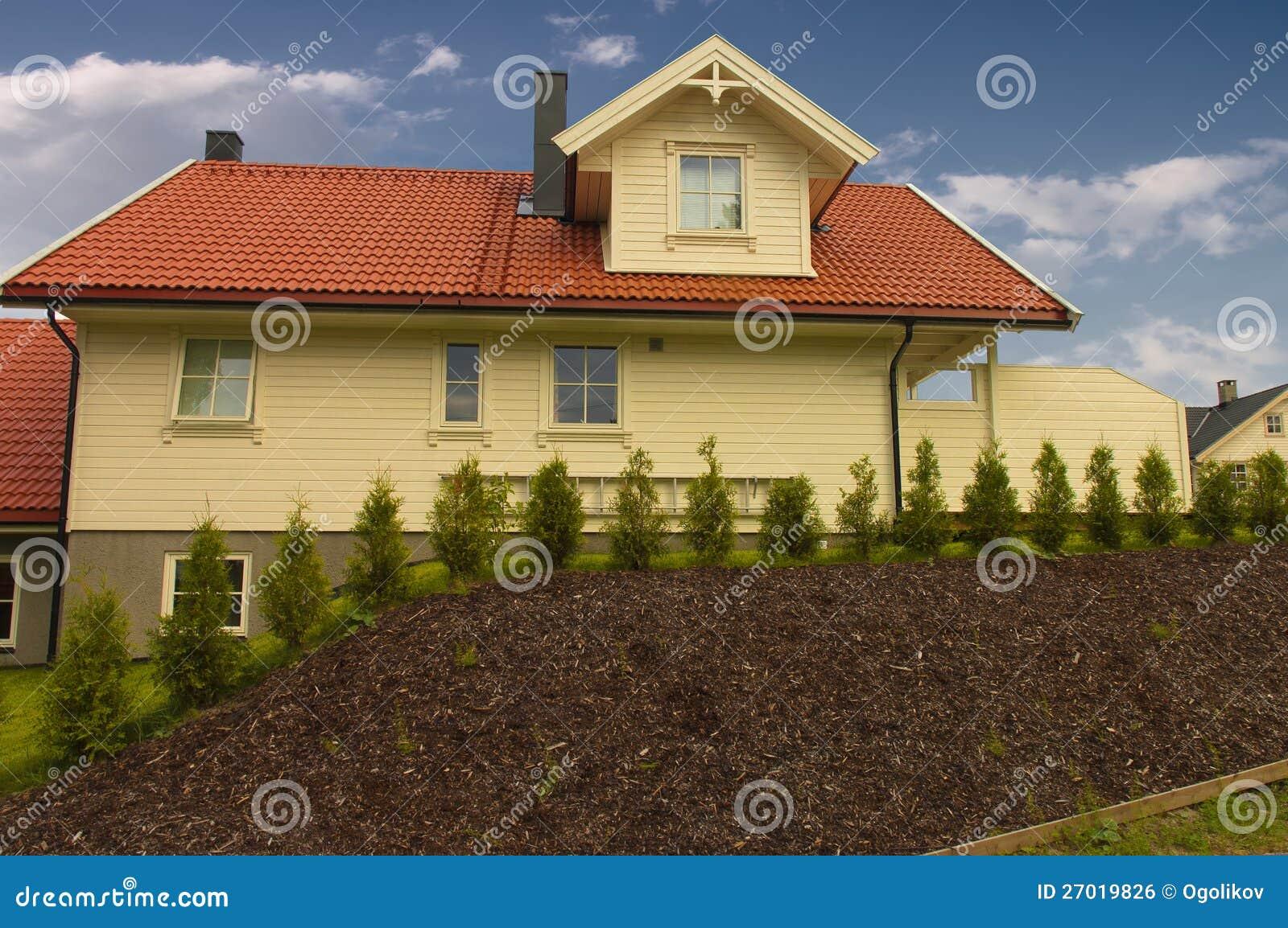 Mooi modern huis stock foto afbeelding bestaande uit nieuw 27019826 - Mooi huis ...