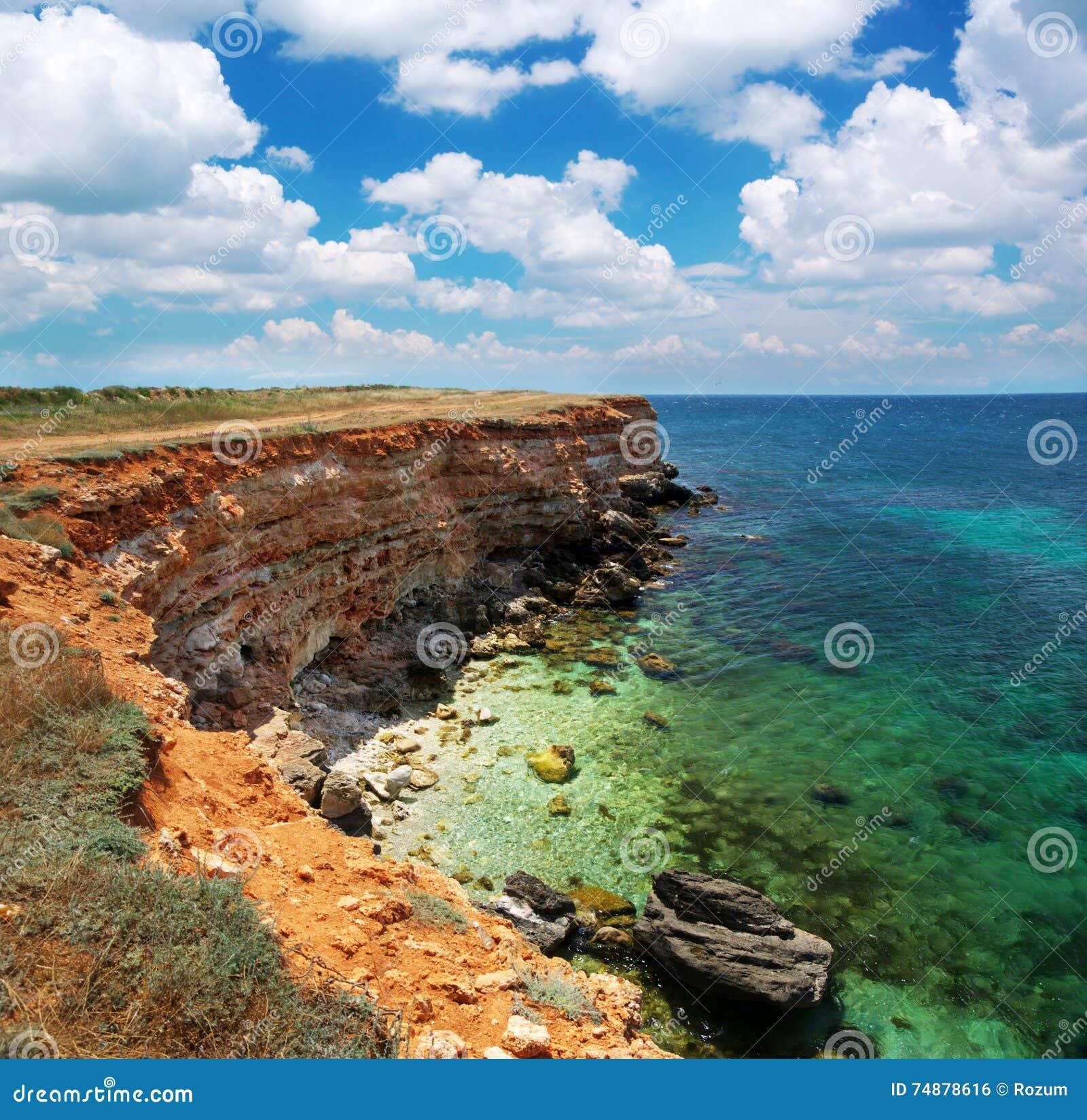Mooi overzees landschap
