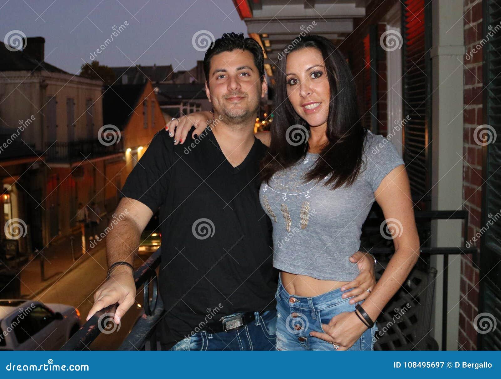 Mooi paar tijdens een bezoek aan La van New Orleans