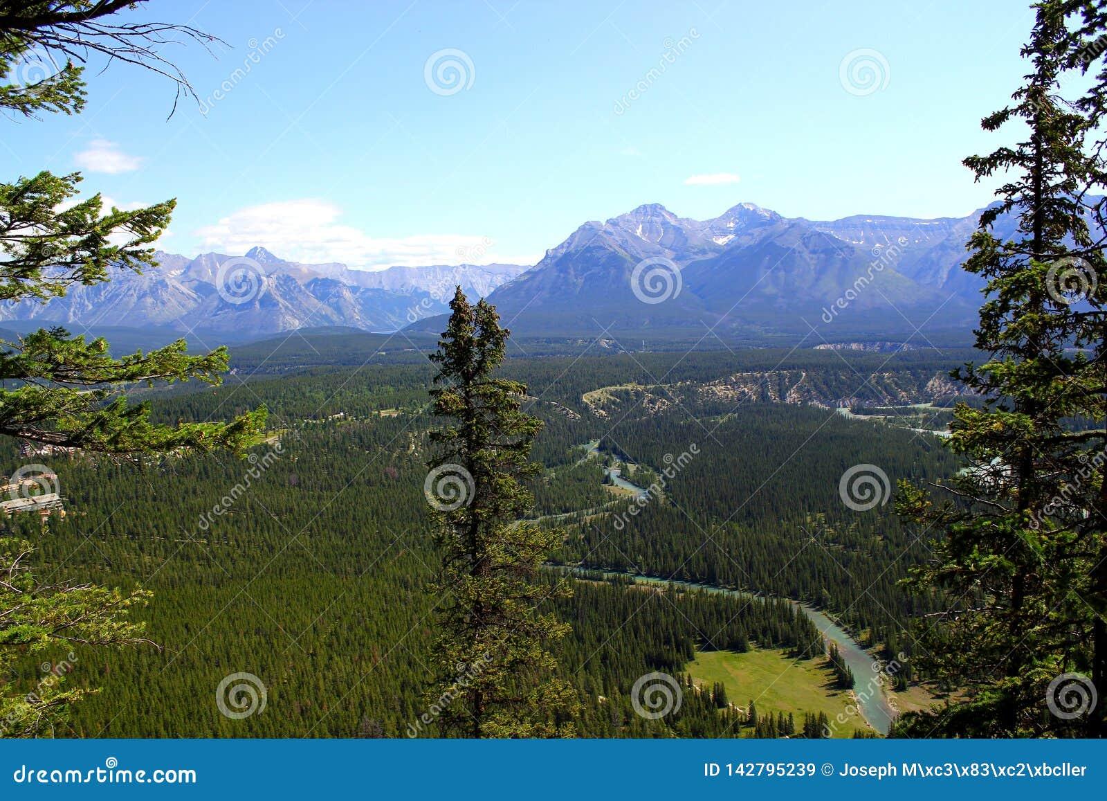 Mooi panorama: Prachtige aard in Banff Nationalpark