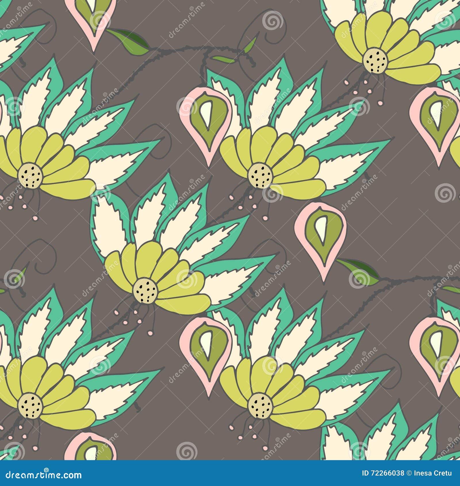 Mooi seamles bloemenpatroon