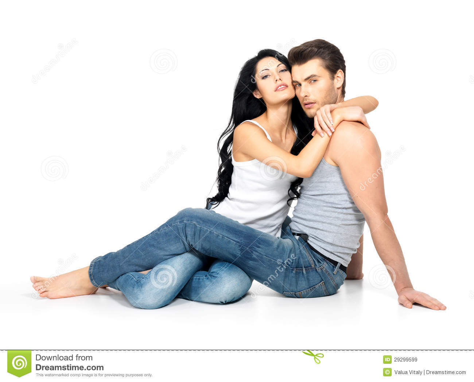 Mooi sexy paar in liefde