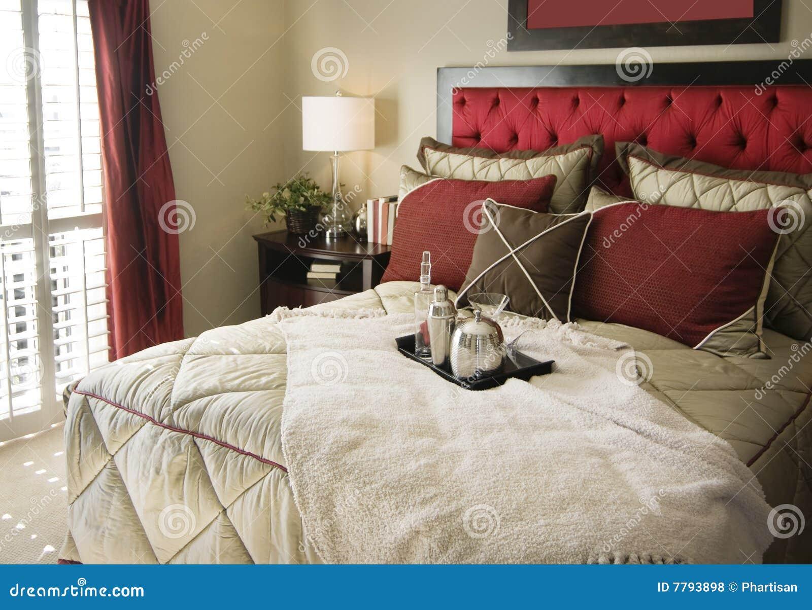 Mooi slaapkamer binnenlands ontwerp royalty vrije stock foto's ...