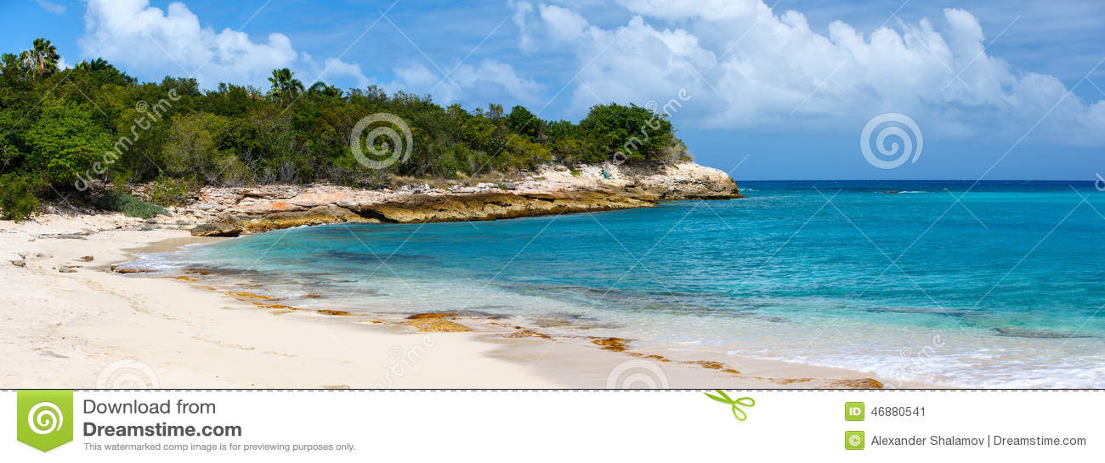 mooi strand op st martin caribbean stock foto afbeelding 46880541. Black Bedroom Furniture Sets. Home Design Ideas
