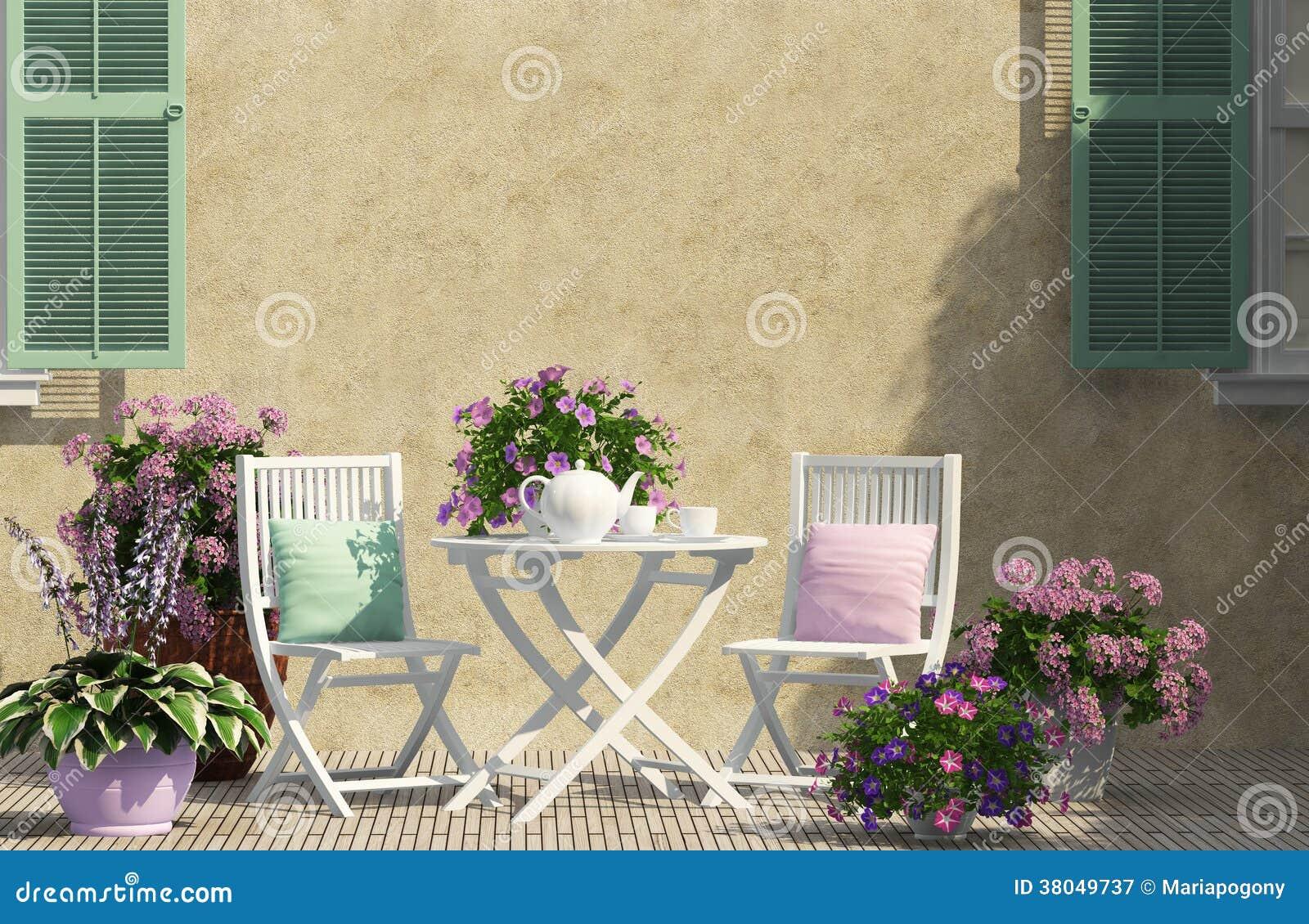 Mooi terras royalty vrije stock fotografie afbeelding 38049737 - Foto buitenkant terras ...