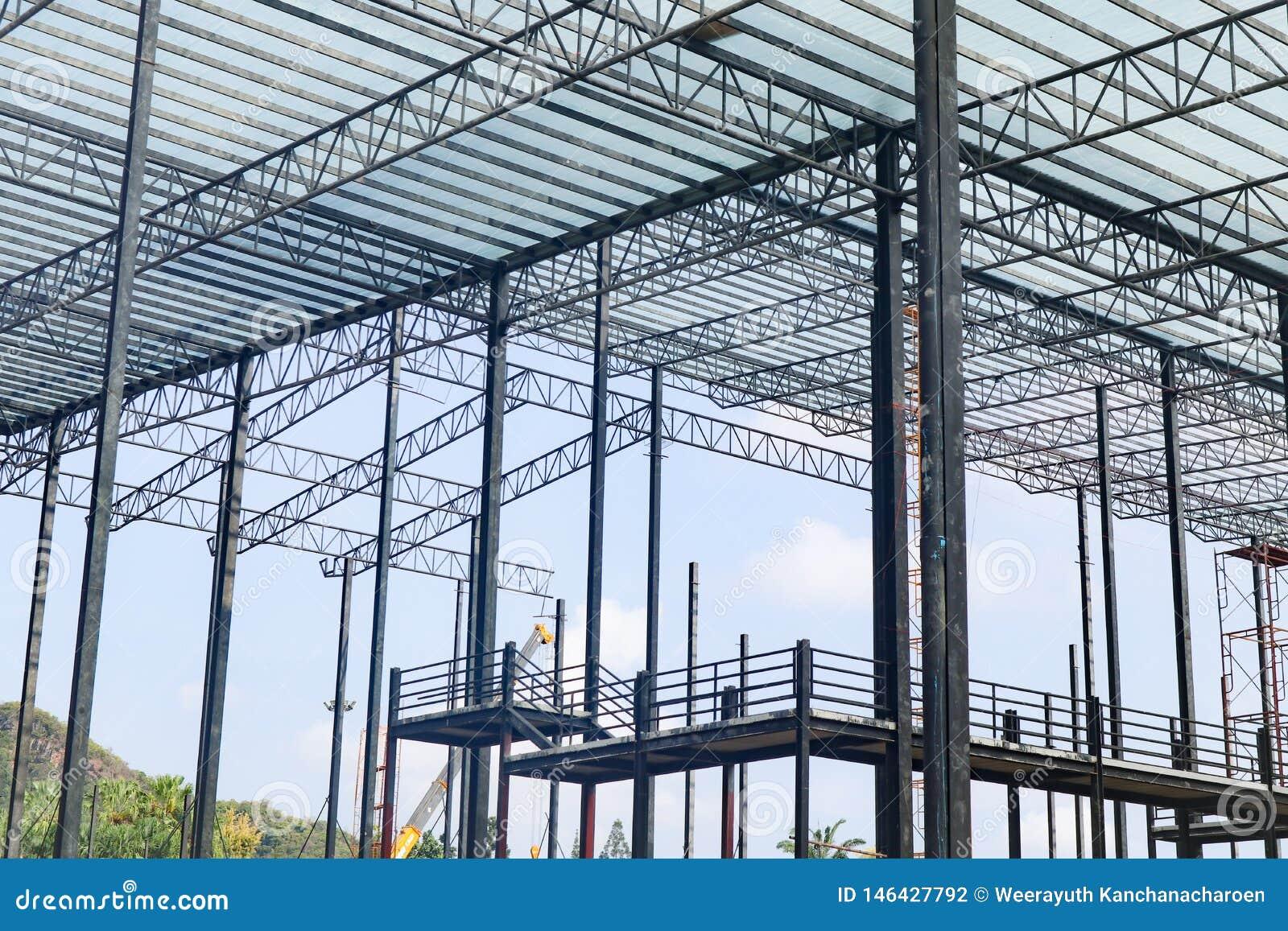 Mooi van het het staalkader van het close-upmetaal de bouwconstructieontwerp