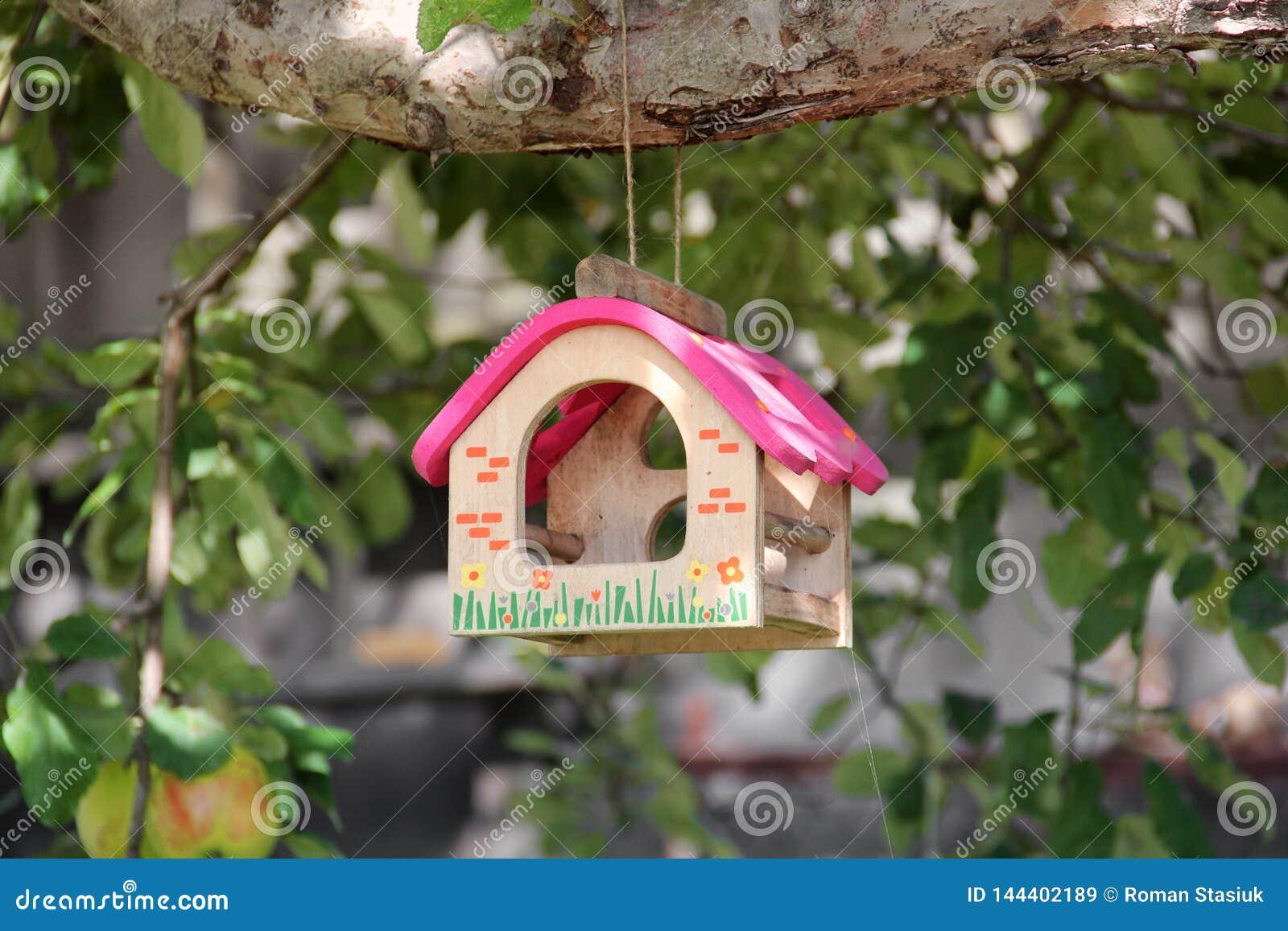 Mooi vogelhuis op een boom