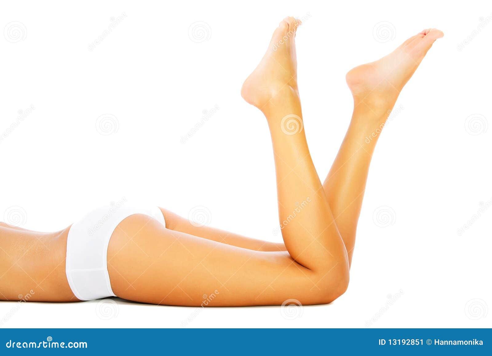 Mooi vrouwelijk benen en lichaam.