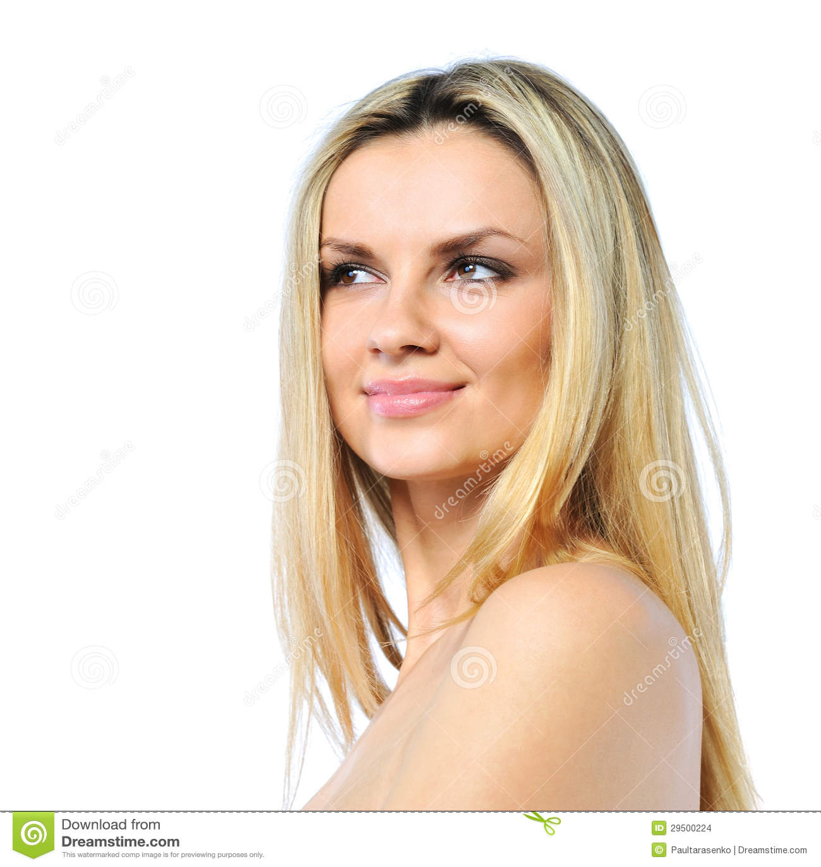 Mooi vrouwengezicht - perfecte huid