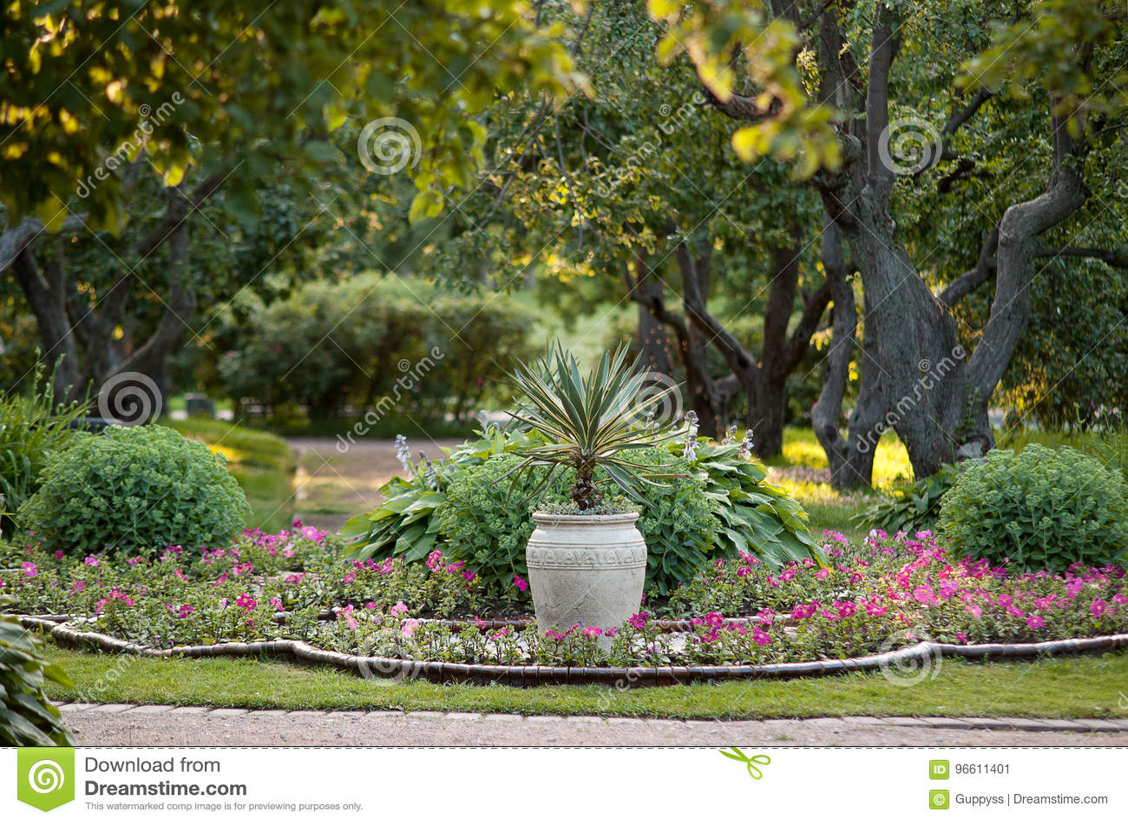Mooi, well-kept de zomerpark