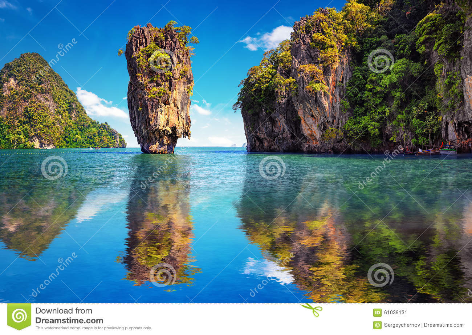 Mooie aard van Thailand James Bond-eilandbezinning