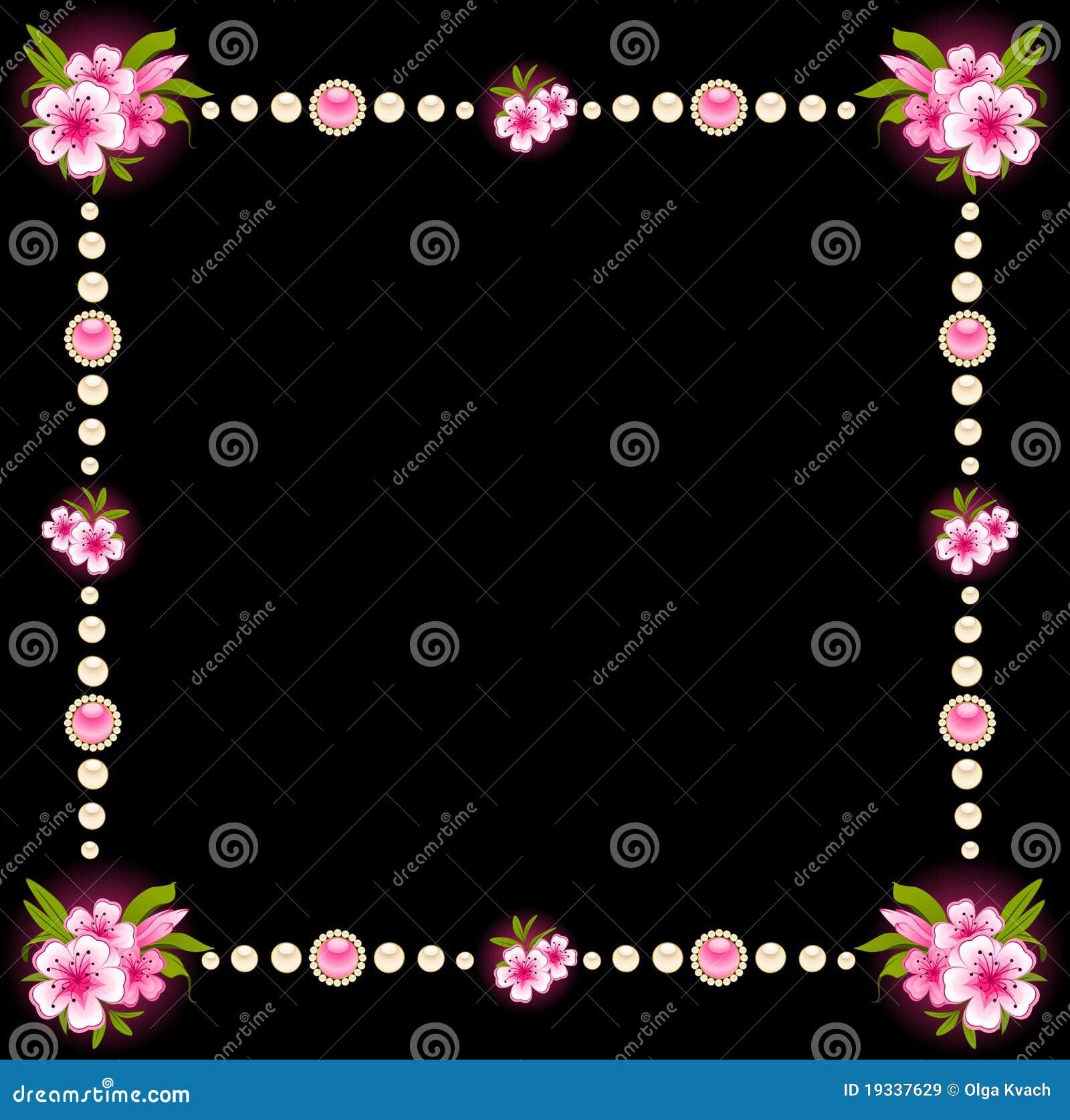 Mooie achtergrond met bloemen