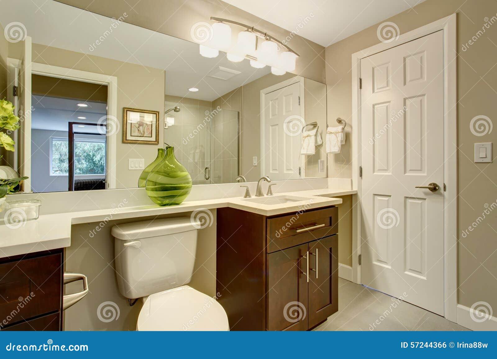 Mooie Betegelde Badkamers : Mooie badkamers met groene vaas stock foto afbeelding bestaande