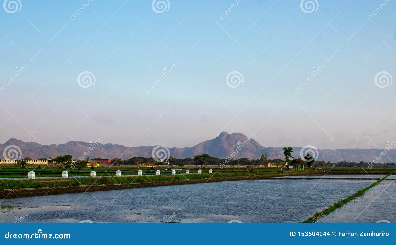 Mooie bergen in een dorp